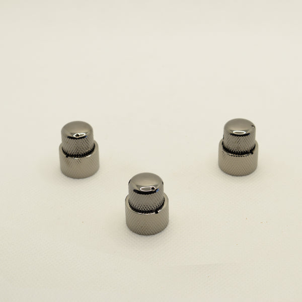 Black Nickel Stacked Dual Control Knob Concentric Set with set screw