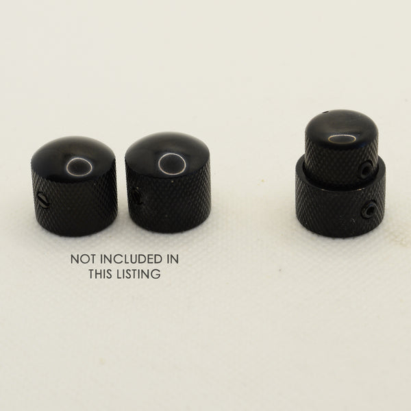 Black Stacked Dual Control Knob Concentric Set with set screw