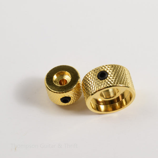 Gold Stacked Dual Control Audio Knob Concentric Set 3mm