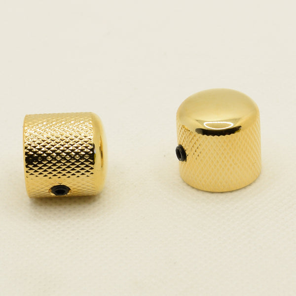 The Pomona Gold Dome Knob Set of 2