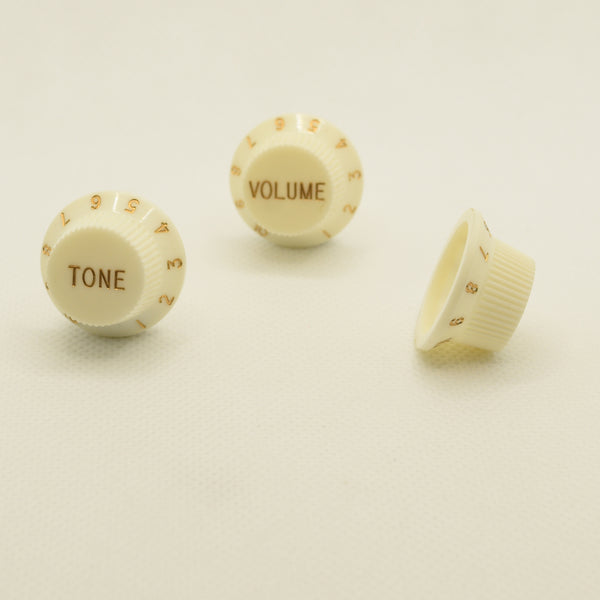 Set of Three Cream Strat Replacement Knobs