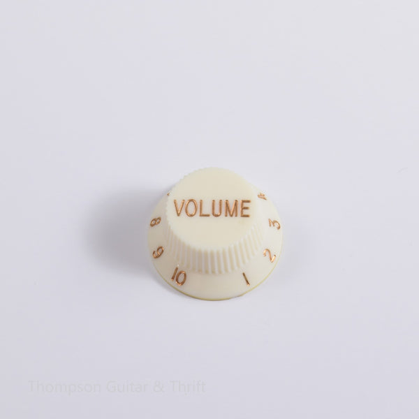 Single Aged Ivory Strat Volume Replacement Knob Aged Ivory