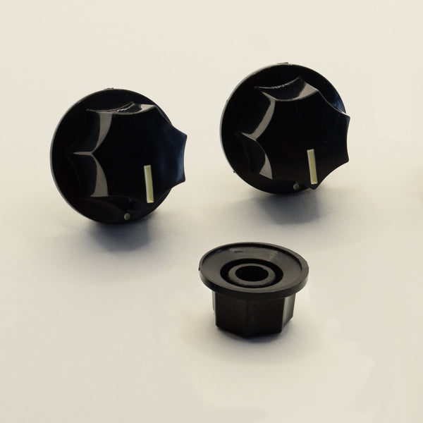 Set of 3 Jazz Bass Style Knobs Black