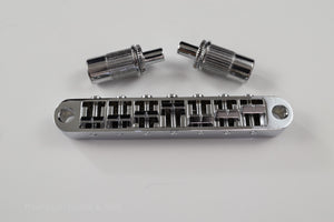 7-String Tune-O-Matic Bridge in Chrome and Black