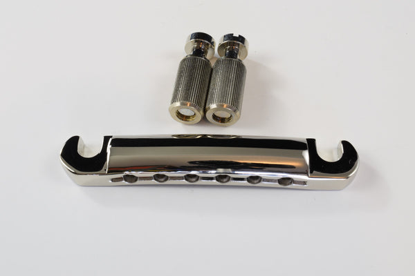 Light Weight Aluminum Stop Tail piece in Chrome and Nickel
