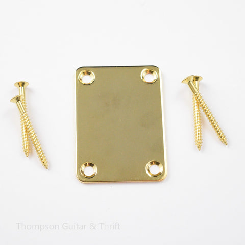 Gold Neck Plate and Screws for Bass