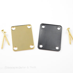 Gold Neck Plate, Gasket and Screws for Guitar
