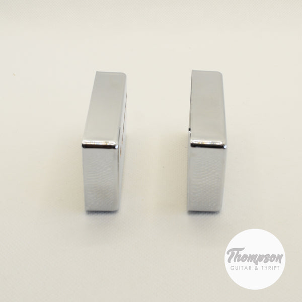 Set of 2 50mm Humbucker Pickup Covers in Chrome