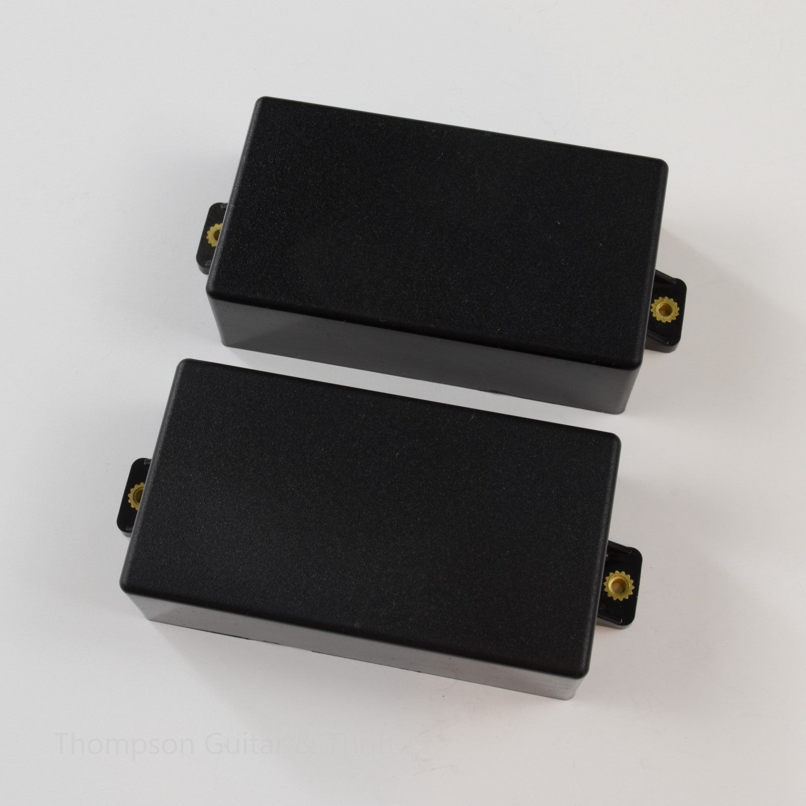 Set of 2 Solid Black Plastic Humbucker Pickup Covers