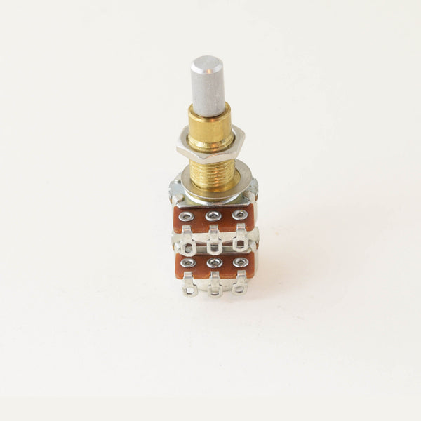 Alpha Potentiometer 1 Meg B Concentric Stacked Dime Size Pot