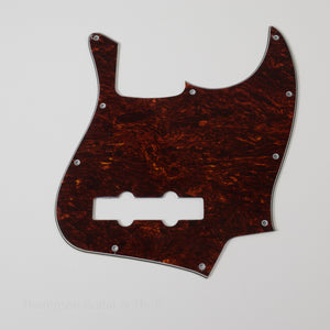 Red Tortoise Shell Jazz Bass Pickguard 10-Screw 3-Ply