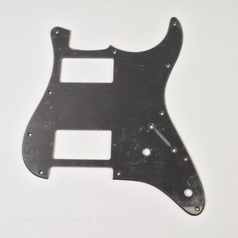 Mirror Strat Style Pickguard 11-Screw HH 2-Knob 1-Ply