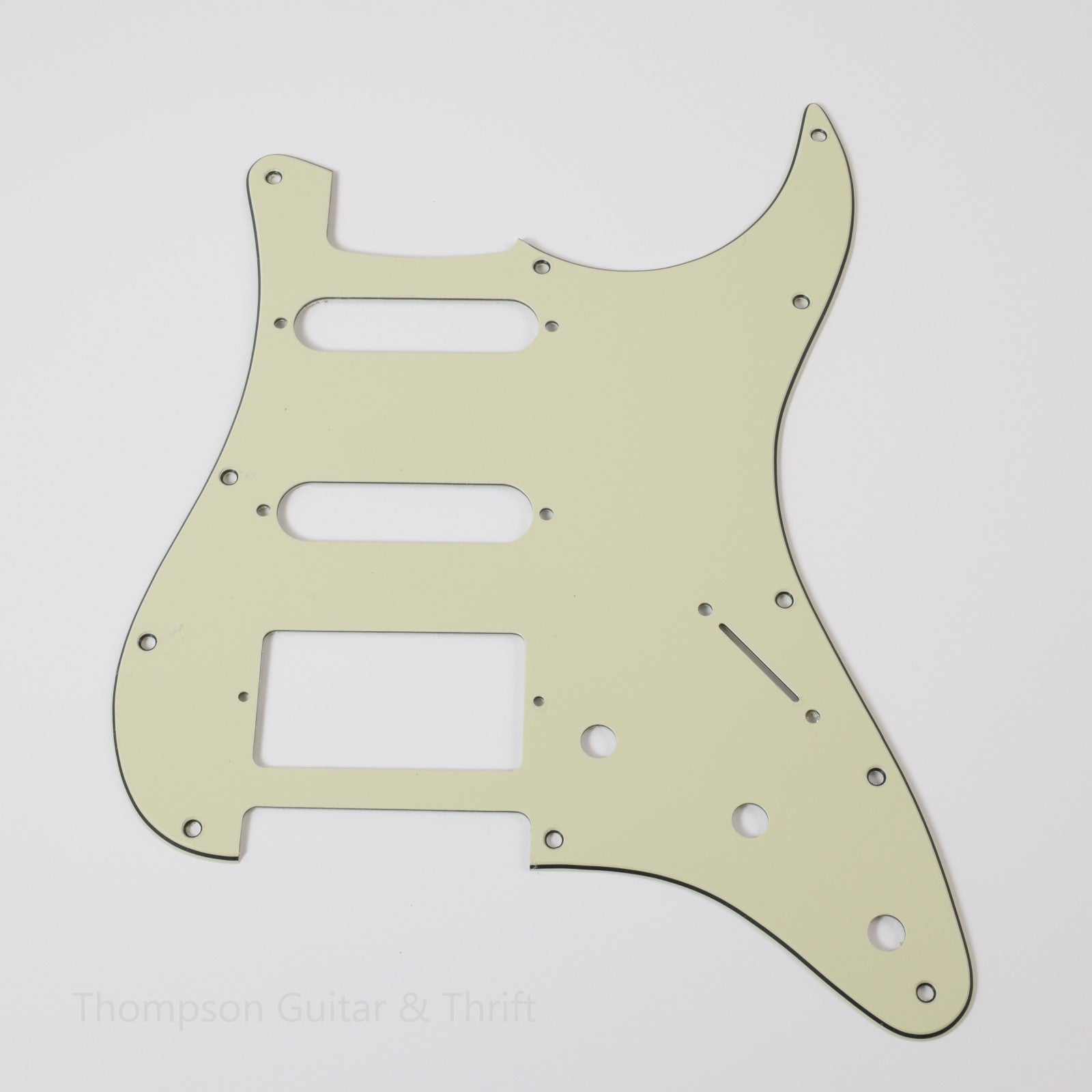 Mint Green Strat Style Pickguard 11-Screw HSS 3-Knob 3-Ply