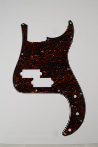 Red Tortoise Shell P-Bass Style Pickguard 13-Screw 2-Ply