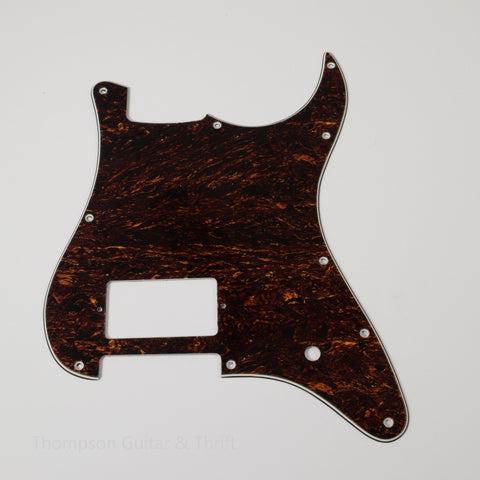 Red Tortoise Shell Strat Style Pickguard 10-Screw 1-Humbucker 1-Knob 3-Ply