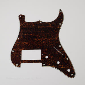 Red Tortoise Shell Strat Style Pickguard 11-Screw 1-Humbucker 3-Knob 3-Ply