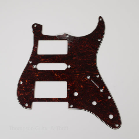 TG&T Red Tortoise Shell Strat Style Pickguard 11-Screw HSH 3-Knob 3-Ply