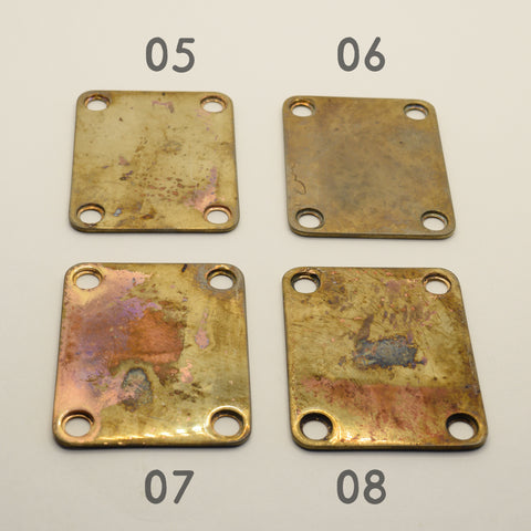 Relic Guitar Neck Plates Group 2