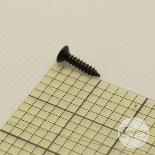 Black Steel Pickguard Screws 2.5mm x 12mm