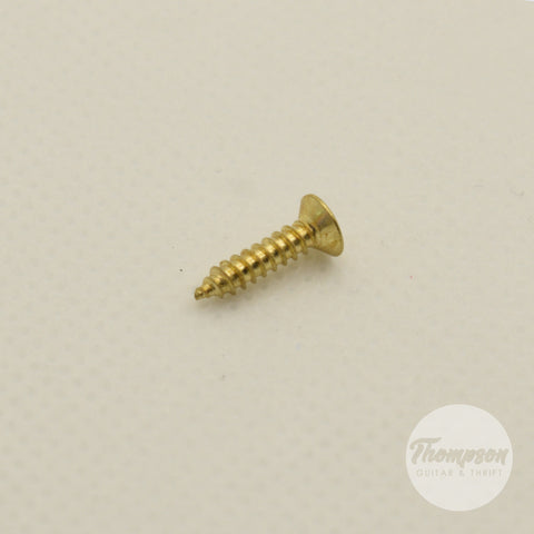 Gold Steel Pickguard Screws 2.5mm x 12mm