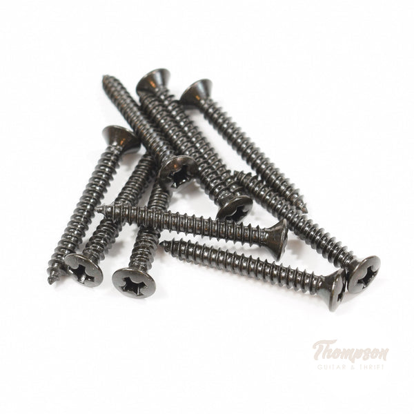 Black Steel Bridge and Strap Pin Screws 3mm x 25mm