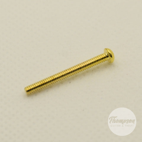 Gold Steel Humbucker Pickup Mounting Screws 2.3mm x 26mm