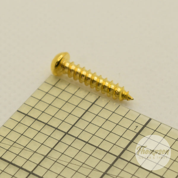 Gold Steel Bridge Screws 3.5mm x 18mm