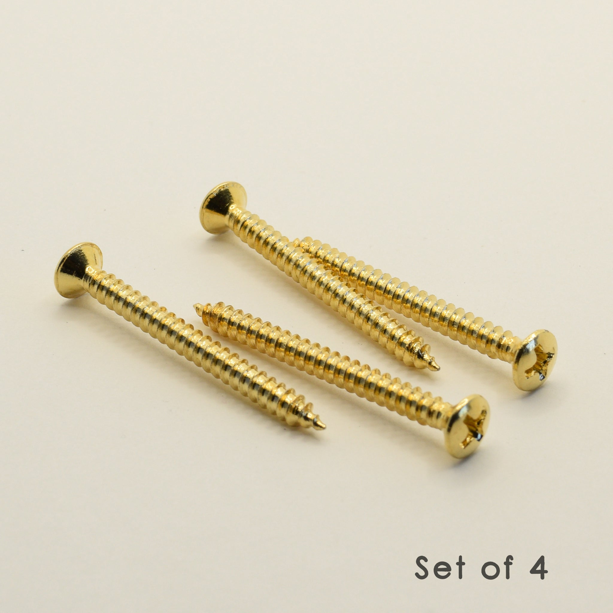 Gold Steel Neck Mounting Screws 4.2mm x 45mm