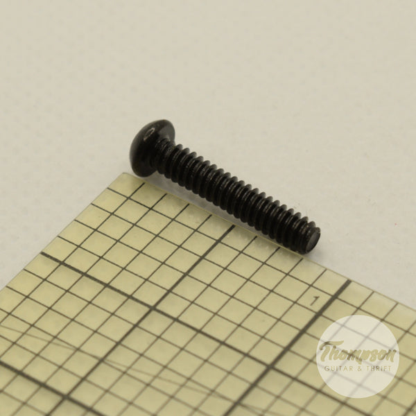Black Steel Switch/Pickup Screws 6mm x 18mm