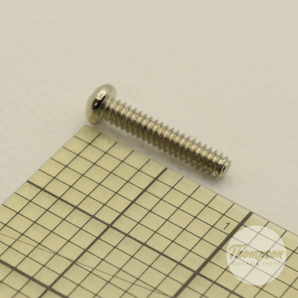 Chrome Steel Switch/Pickup Screws 6mm x 18mm