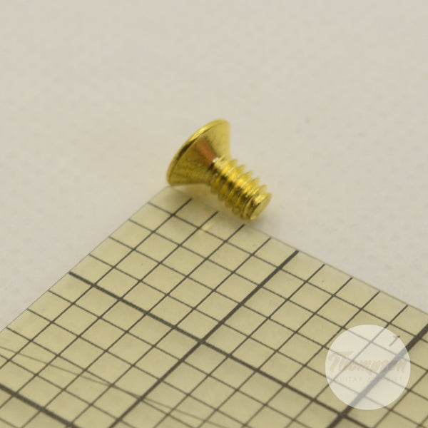 Gold Steel Switch Screws 6mm x 5mm