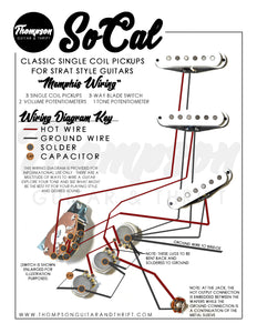 Memphis Wiring with SoCal Single Coil Pickups