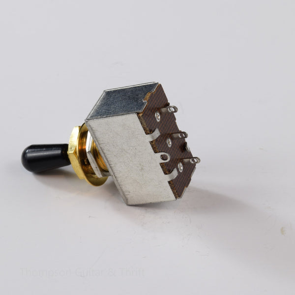 3-Way Box Toggle Switch gold with removable black tip
