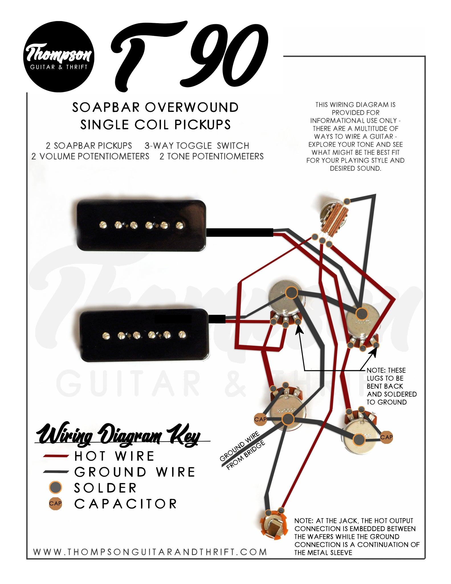 T90 Soapbar Single Coil Pickup Wiring Diagram