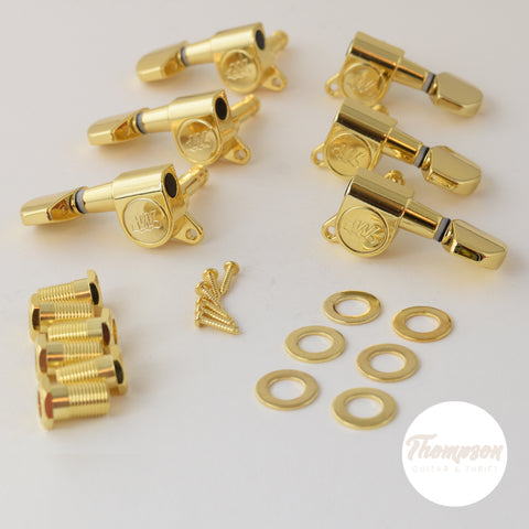 3x3 Gold Wilkinson EZ LOK Tuners Set of 6