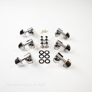 Chrome 3 + 3 Wilkinson Roto Style Standard Tuners Set of 6