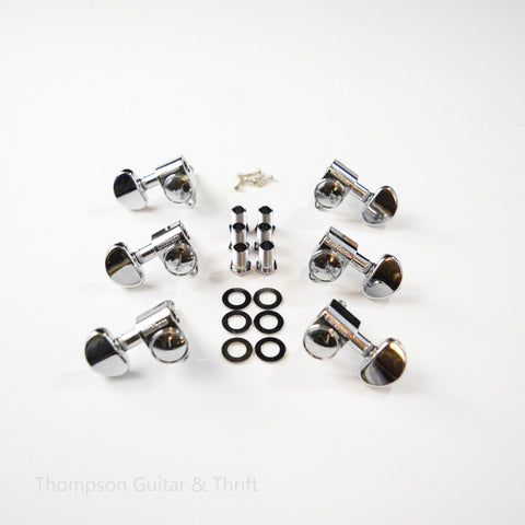 3x3 Chrome Wilkinson Roto Style Standard Tuners Set of 6