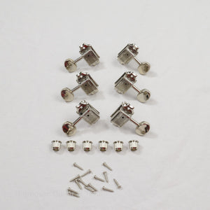 Nickel 3+3 Wilkinson Vintage Split Shaft Tuners Set of 6