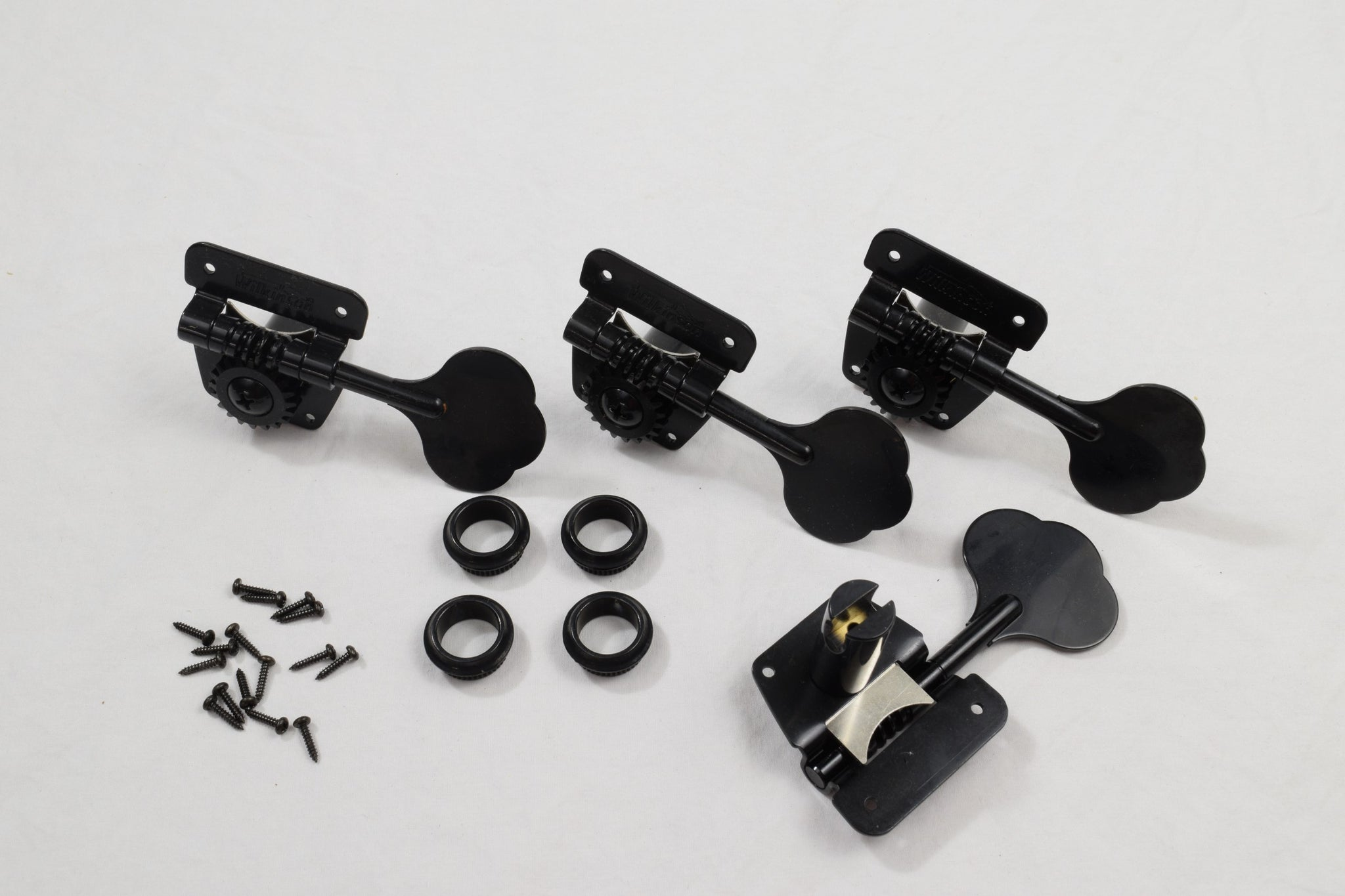 Black 4 in line Wilkinson Bass Tuners