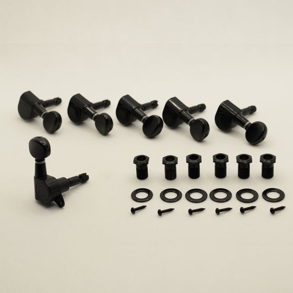6 in line Black Proline Self Locking Tuners Set of 6