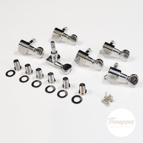 Chrome 6 in line Proline Self Locking Tuners Set of 6