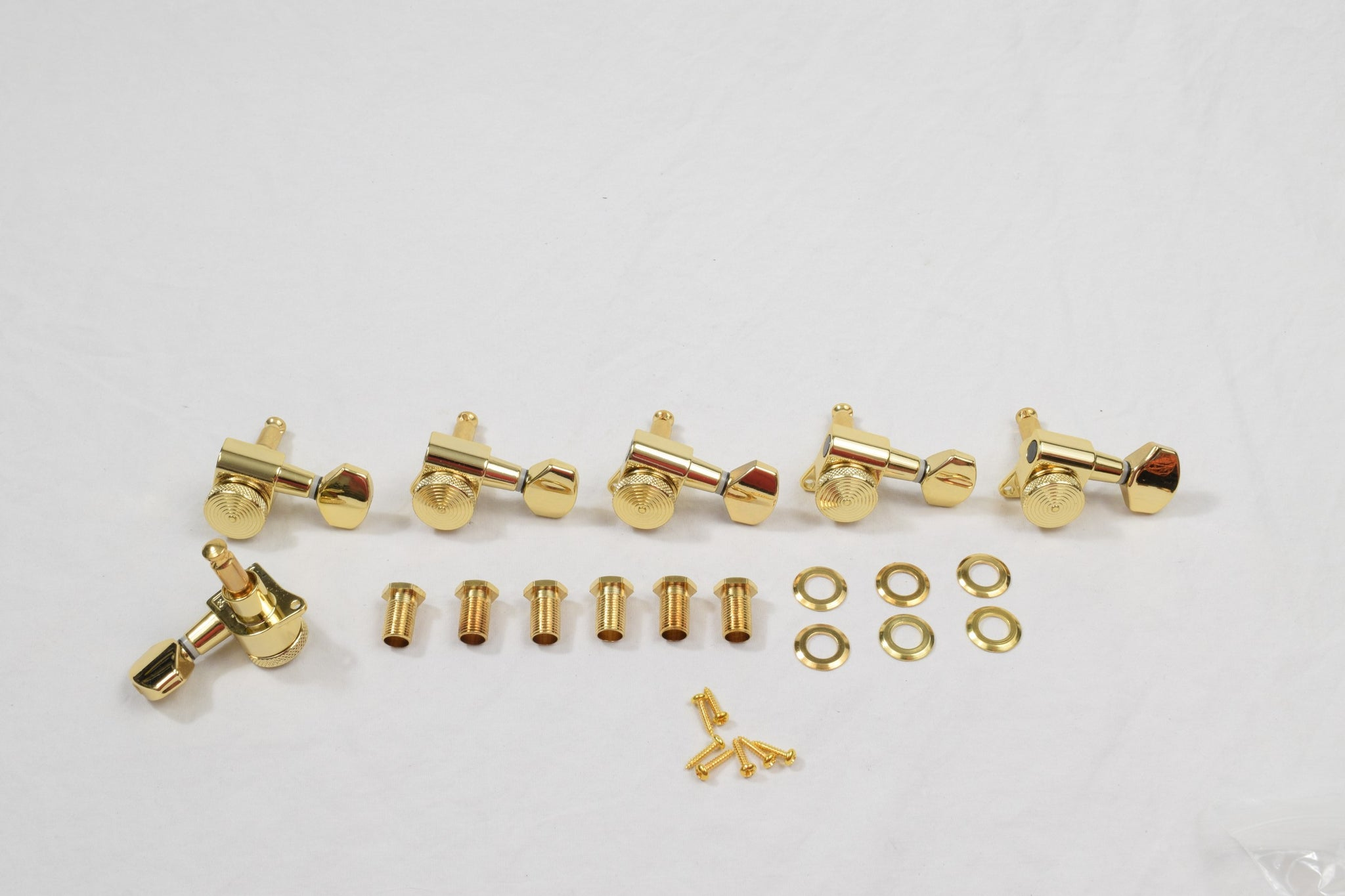 Gold 6 in line Proline Rear Thumbwheel Locking Tuners Set of 6