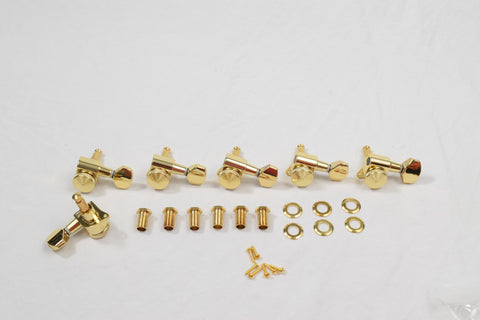 6 in line Gold Proline Rear Thumbwheel Locking Tuners Set of 6