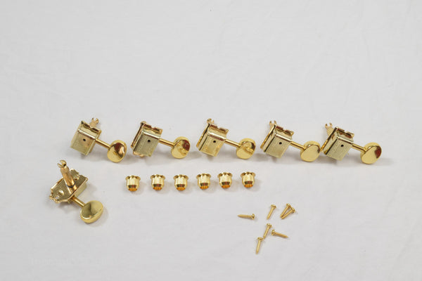 Gold 6 in line Wilkinson Vintage Split Shaft Tuners Set of 6