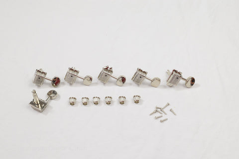 Nickel 6 in line Right Hand Wilkinson Vintage Split Shaft Tuners Set of 6
