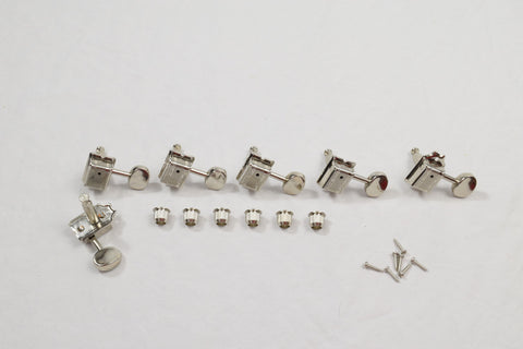 Nickel 6 in line Right Hand Wilkinson Vintage Standard Tuners Set of 6