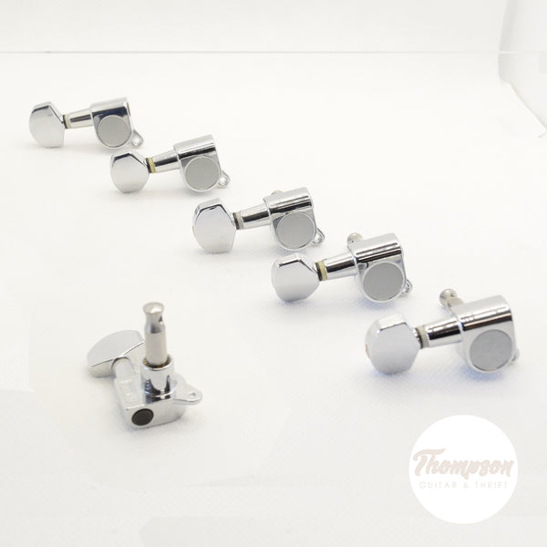 6 in line Chrome Proline Standard Left Hand Tuners Set of 6