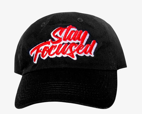 Stay Focused Dad Hat (Black)