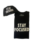 Stay Focused T Shirt - Black
