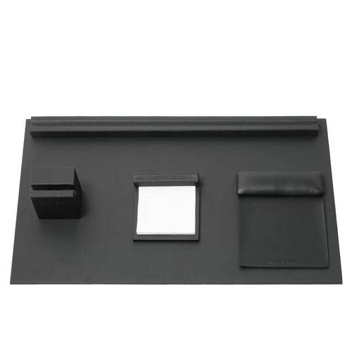 HAD808A - Hugo Boss Desk set Stripe Soft Black